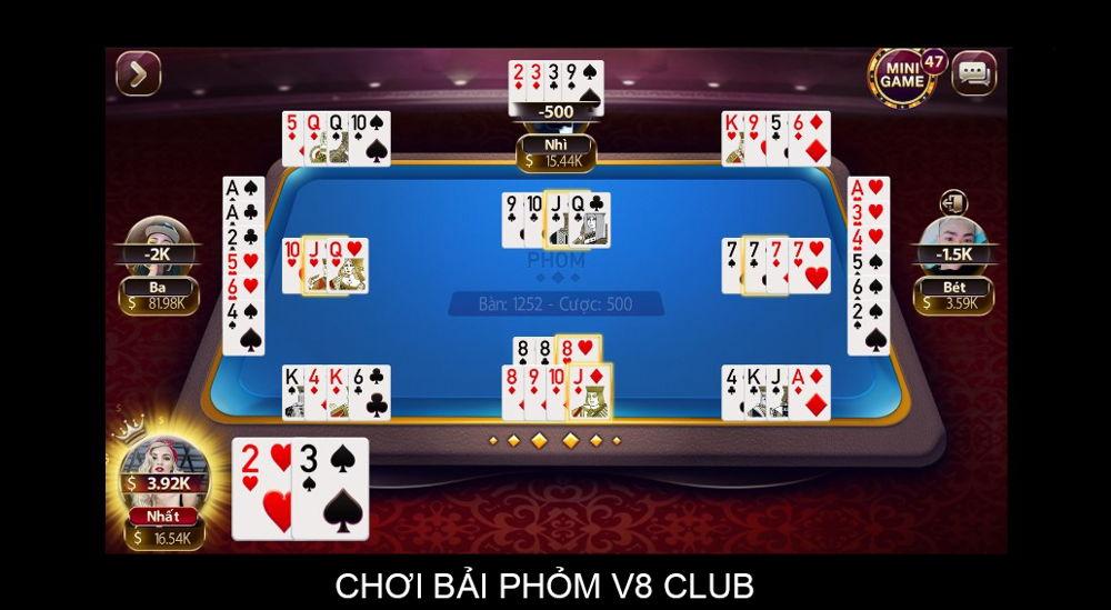 chơi bài phỏm v8 club