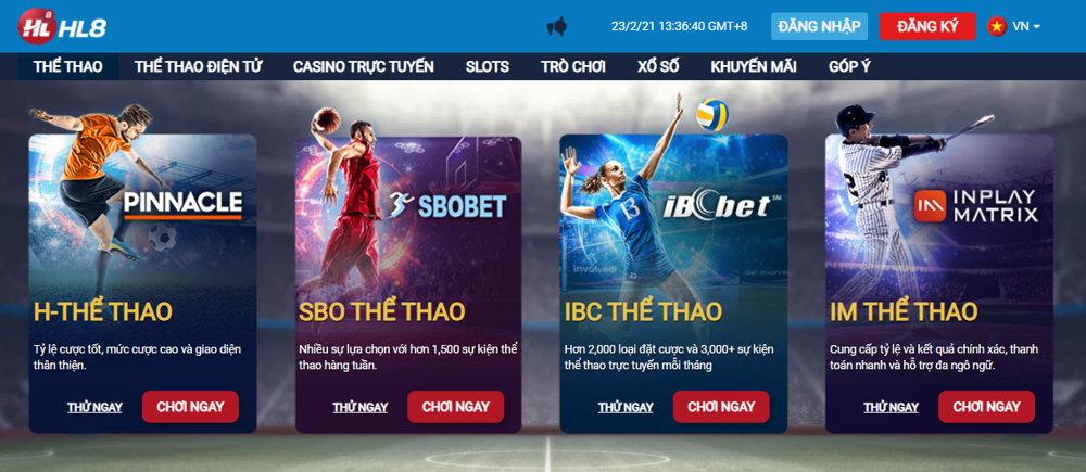 Cá cược thể thao trực tuyến tại HL8VN