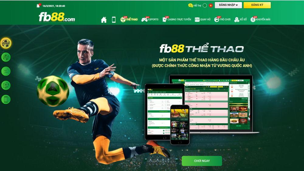 cá cược bóng đá FB88