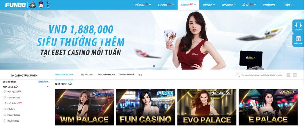 casino trực tuyến FUN88 2021
