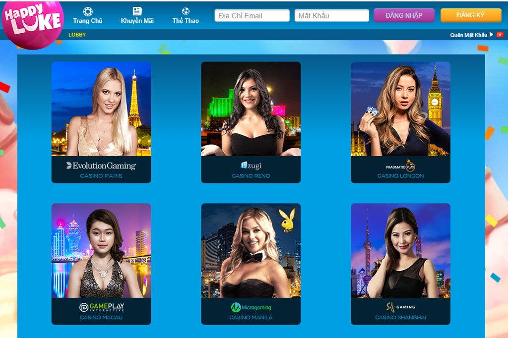 casino trực tuyến happyluke