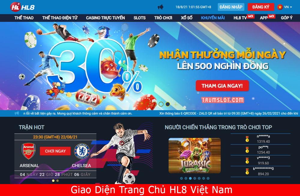 trang chủ nhà cái HL8 Việt Nam